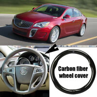 Car Steering Wheel Cover Anti-Slip Carbon Fiber Leather Wrap For Buick Regal
