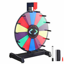 "Winspin 12"" Editable Color Prize Wheel Fortune Spin Game 14 Slots Tradeshow"