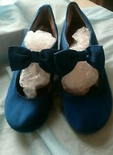 Pair of Blue Suede Ella Shoes Size 3