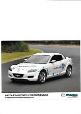 "Mazda RX-8 rotatif hydrogen engine press photo ""brochure reliée"" mars 2004"