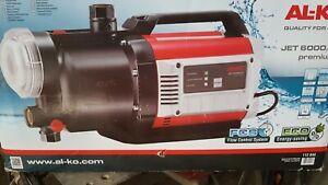 Gartenpumpe AL-KO Jet6000/5 Premium mit Filter+Rückschlagventil+Saugleitung(neu)