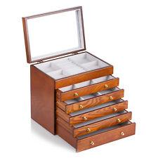 Schmuckkasten Holz Schmuckschatulle Schmuckkästchen mit 5 Schubladen MG008BR