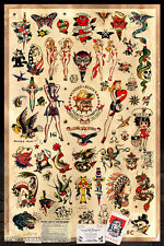 """Sailor Jerry Tattoo Flash Poster (Version. 2) - (24""""x36"""") - Free S/H"""