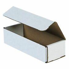 50- 8x4x2 White Corrugated Carton Cardboard Packaging Shipping Mailing Box Boxes