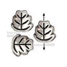 20 Intercalaires spacer Feuille argent 7x7x3mm Perle apprêt création bijoux A167