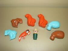 Fisher Price Little People lot ZOO #916 animals keeper gorilla goat hippo parrot