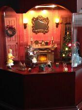 Große Spieluhr Weihnachtsstube Weihnachtszimmer Beleuchtung + 6 Lochplatten!!!
