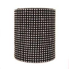 1 yard Silver Black Diamante Effect Ribbon Trim Embellishment 24 x rows