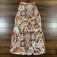 BCBGMaxAzria Women's Size Small Dusty Floral Grand Paisley Maxi Wrap Skirt