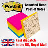 Genuine Post-It Sticky Notes Removable Self Adhesive 76mm Neon Random Colour 1pk