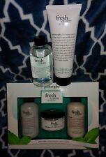 Philosophy FRESH CREAM & MINT Body Spritz, Lotion, Souffle, Shampoo, Bath Gel
