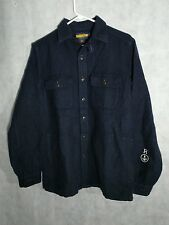 Rugby Ralph Lauren Naval Jacket Heavy Duty Shirt  Pockets Size Small Oversized