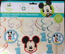 Mickey Mouse Birthday Decoration Swirls 1st Birthday Party Supplies