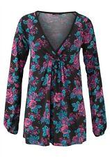 MELROSE Longshirt Shirt Minikleid 'Blumen' Gr.: S   36 NEU