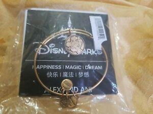 Alex /& Ani Ariel Charm Bangle Bracelet Disney Parks Little Mermaid Gold RETIRED