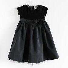 Baby GAP black velvet princess dress full taffeta skirt toddler 5 evening gown
