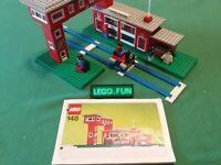 LEGO® 148 Bahnhof +BAL Legoland City - Central Station +instr. vintage 1975
