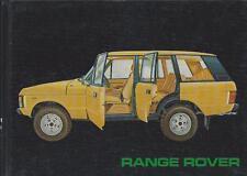 LAND ROVER    RANGE ROVER    1982    Betriebsanleitung   Handbuch   Bordbuch  BA