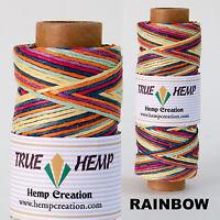 Natural Hemp Twine Cord - Assorted colors 20lb 1mm 205feet/62m 50gram per Spool