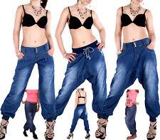 Haremshose Pumphose Pluder Boyfriend Sarouel-Aladin Harem Jeans Hose Baggy 36-44