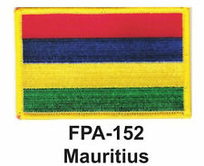 """2-1/2'' X 3-1/2"""" MAURITIUS Flag Embroidered Patch"""