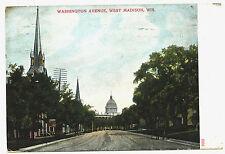 WASHINGTON AVENUE, WEST MADISON, WIS. WI. WISCONSIN.