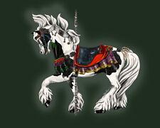 Tribal Ziva ~ Gypsy Vanner Pinto Carousel Horse cards