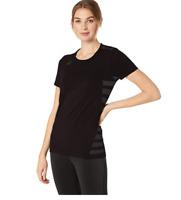 ASICS Women's Tactic Court Shorts Sleeve Jersey, Black, 2X-Small