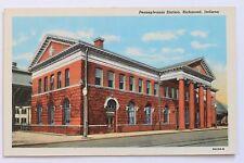 Old postcard PENNSYLVANIA STATION, RICHMOND, INDIANA