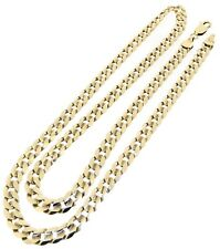 9ct 9Carat yellow gold diamond cut curb chain necklace 21.5 inches trigger catch