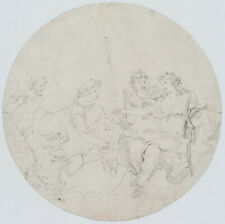 Unbekannt, 18. Jahrhundert, Diana und Actaion, Zeichnung