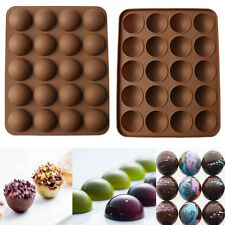 20-Half Ball Silicone Chocolate Mould Fondant Cake Candy Decor Baking Mold Tool