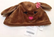 NWT Gymboree Lots of Dots 12-18-24 Months Brown Faux Fur Puppy Dog Hat with Ears