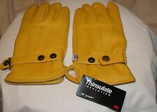 Justin® Men's Lined Deerskin Snap-Wrist Gloves with Thinsulate™ - XL