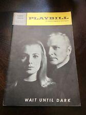 Playbill - Wait Until Dark - Forrest Theatre -  May 1967 Vol. 4 # 5