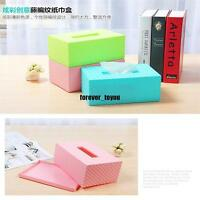 Plastic Facial Tissue Napkin Box Toilet Paper Dispenser Case Holder Home