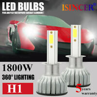 2x 1800W CREE H1 LED Headlight Bulbs Conversion Kit 480000LM 6000K Hi/Lo Beam zq