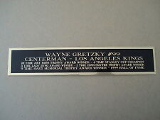 Wayne Gretzky L.A. Kings Nameplate For A Hockey Stick Photo Display Case 1.5 X 8