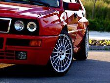 """(4 Stück) felgen für Lancia Delta Integrale EVO 8jx17"""" 5x98 et24,5 Räder silber"""