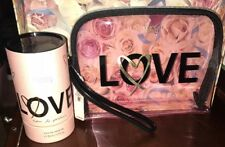 Victoria's Secret LOVE Eau de perfume 1.7 Oz & Love Clear Pink Makeup Bag