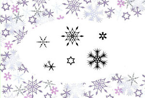 Card-io Winter Flurry Majestix Clear Peg Stamps CDMAWI-01
