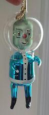 RARE CHRISTMAS ORNAMENT ROBOT BLOWN GLASS ITALY MERCURY GLASS SPACEMAN MARTIAN