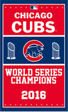 Chicago Cubs Flag 3x5 Feet Banner MLB 2016 world series champions