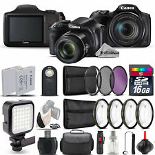 Canon PowerShot SX540 HS Digital Camera+ LED + 7PC Filter + EXT BAT - 16GB Kit