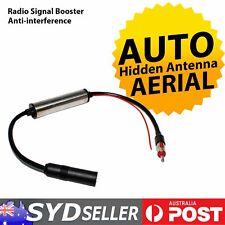 Auto Inline Antenna Signal Booster Hidden Aerial AM/FM Amplifier Mast Reception