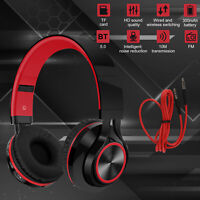 Over Ear Bluetooth Stereo Headphones Wireless Foldable Headset Noise Cancelling