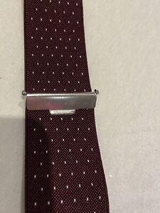 Gutos Bordeaux Spot Y Fit Classic Clip auf Hosenträger Hosenträger Top Zustand