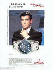 PUBLICITE ADVERTISING  026  2002  Omega montre Seamaster James Bond 007 P. Brosn