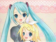Manga animé Vocaloid Hatsune Miku feliz Niñas Impresión del Arte Cartel 18X24'' LV10068