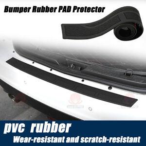 Rear Bumper Guard Protector Trim Cover Sill Plate Trunk Rubber Pad Step Pad